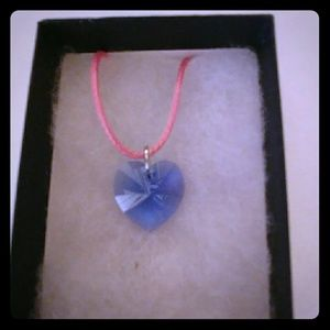 Jewelry - River Blue Crystal Heart Necklace